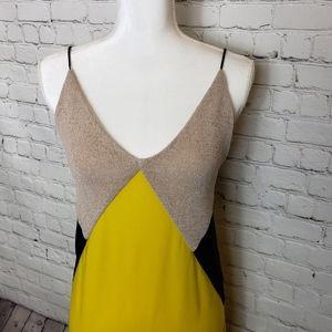 Zara Dresses - Zara yellow, tan, and yellow shift dress